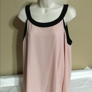 NWT- blush colored cold shoulder blouse XL